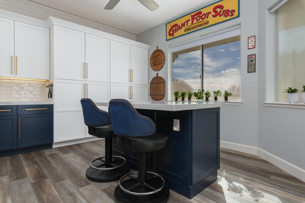Custom Blue Cabinet Remodel